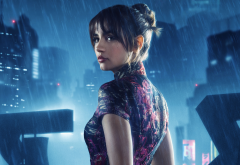 ana de armas, actress, blade runner 2049, women, movies, rain, brunette wallpaper
