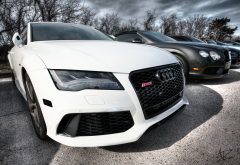 audi rs7, audi, white car, cars wallpaper