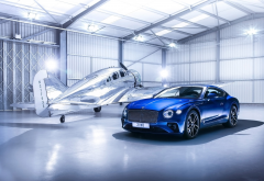 bentley, aircraft, hangar, cars, aviation, bentley continental gt v8s, bentley continental gt, bentley continental wallpaper