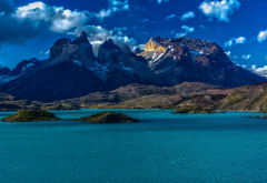 patagonia, chile, mountains, lake, nature wallpaper