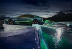 bmw m8, bmw, cars, ice, winter, night wallpaper