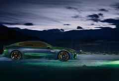 bmw m8, cars, bmw, night, ice, winter, snow wallpaper