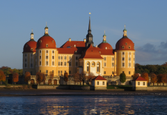 moritzburg castle, castle, germany, lake, moritzburg palace, baroque, moritzburg, saxony, city wallpaper