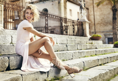 elsa pataky, actress, smile, legs, white dress wallpaper