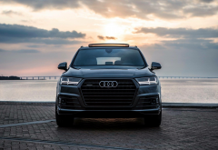 audi, cars, bridge, 2018 audi q7, audi q7 wallpaper
