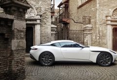aston martin db11 v8, aston martin db11, aston martin, cars, white car wallpaper