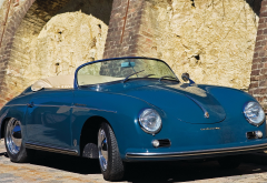 1956 porsche 356, aquamarine blue, porsche 356, porsche, cars, retro car wallpaper