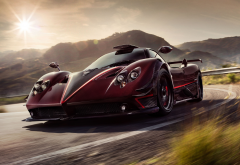 pagani zonda, pagani, cars, supercar, sun wallpaper