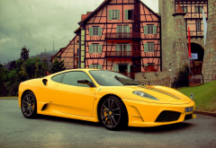 ferrari, cars, yellow car, ferrari f430 scuderia, ferrari f430 wallpaper