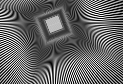 3d, tunnel, graphics, abstract art, black and white wallpaper
