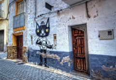 old quarter, graffiti, valencia, spain, fansara, city wallpaper