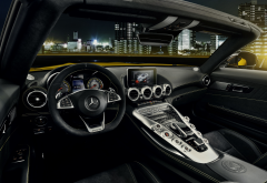 cars, city, night, mercedes-amg gt s, mercedes-benz, roadster, mercedes-amg, mercedes wallpaper
