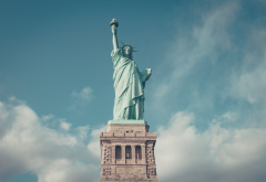 New York, statues, Statue of Liberty, New York City, USA, city, world wallpaper