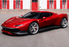 ferrari sp38, cars, red car, ferrari wallpaper