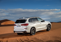 bmw x5 g05, bmw x5, bmw, carsm white car, desert, sand wallpaper