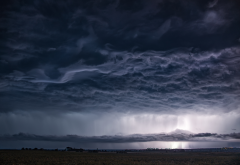 clouds, thunderstorm, overcast, dark clouds, nature wallpaper