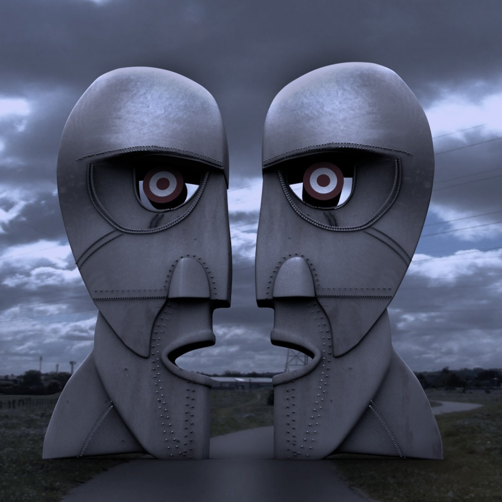 Download 1024x1024 Pink Floyd Artwork The Division Bell Sculptures Face Metal Wallpapers