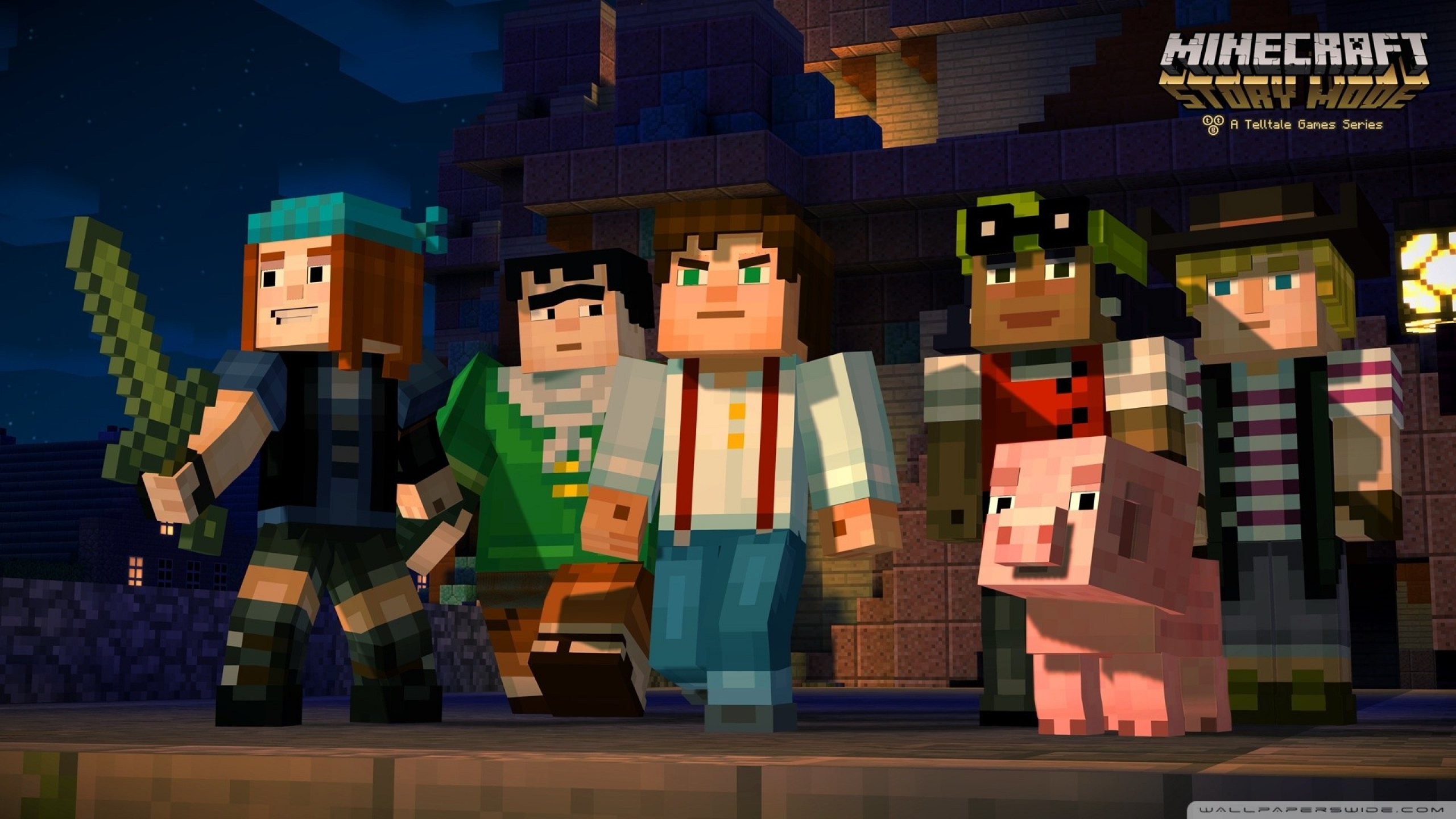 Download 2560x1440 Minecraft Story Mode Minecraft Video