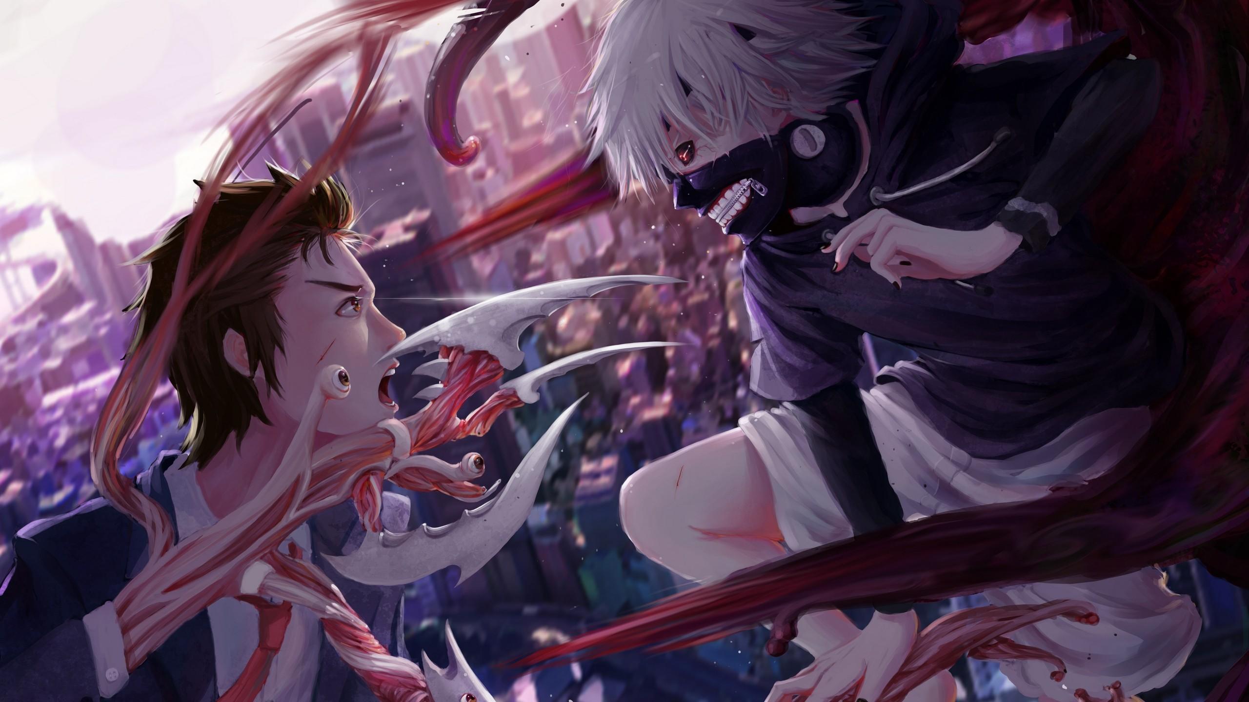 Download 2560x1440 Tokyo Ghoul Kaneki Ken Izumi Shinichi Anime Wallpapers