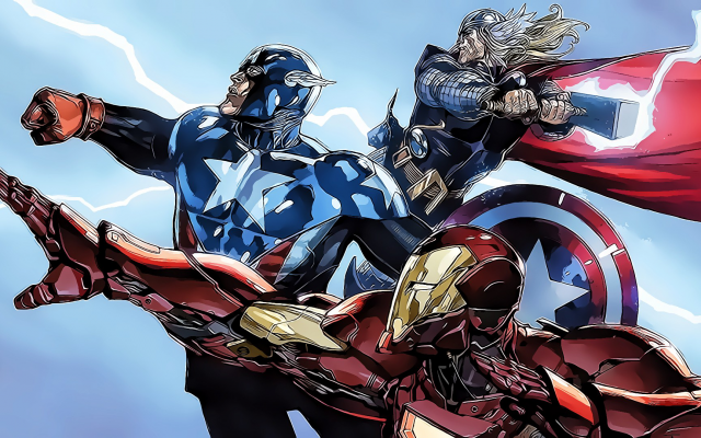 1920x1080 pix. Wallpaper Marvel Comics, Iron Man, Captain America, Thor