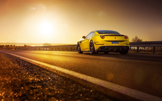 2560x1600 pix. Wallpaper Ferrari California T, Novitec Rosso, car, road, sunset, Ferrari California, Ferrari