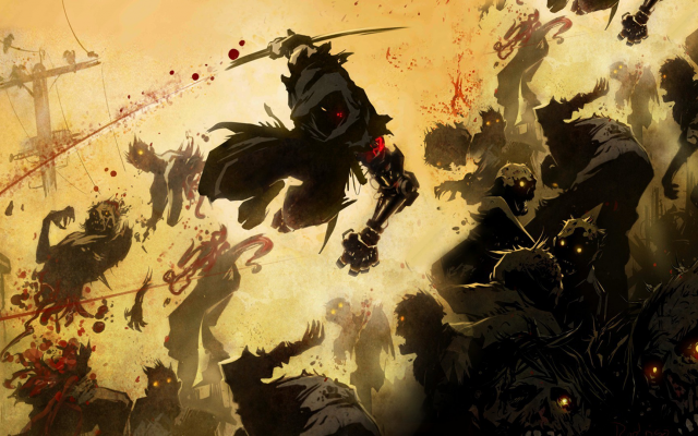 1920x1080 pix. Wallpaper artwork, ninja, ninja robots, cyborg, zombie, blood, warrior, yaiba, ninja gaiden z
