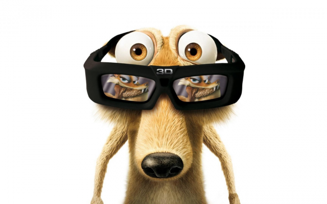 1920x1080 pix. Wallpaper Scrat, cartoons, movies, Ice Age: Dawn of the Dinosaurs, Ice Age, 3d glasses