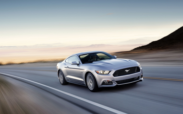 2560x1600 pix. Wallpaper Ford Mustang GT, car, road, sunset, motion blur, Ford Mustang, Ford