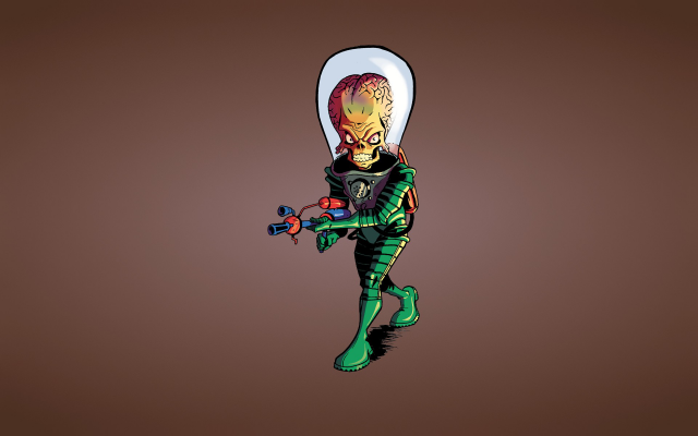 1920x1200 pix. Wallpaper Mars Attacks, artwork, brain