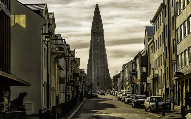 2048x1367 pix. Wallpaper reykjavik, city, cityscape, architecture, building, iceland, street, church