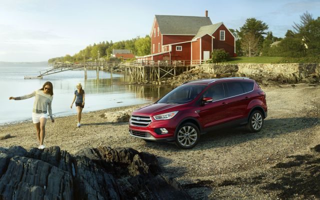 4096x2238 pix. Wallpaper ford escape, car, ford, crossover, beach