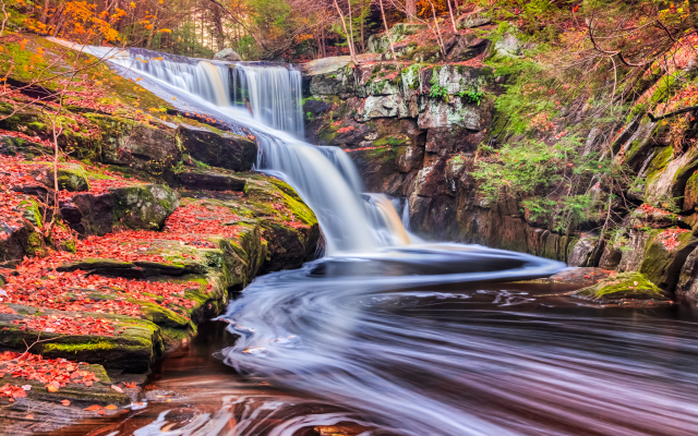 2048x1365 pix. Wallpaper enders falls, autumn, waterfall, rocks, nature, leaf