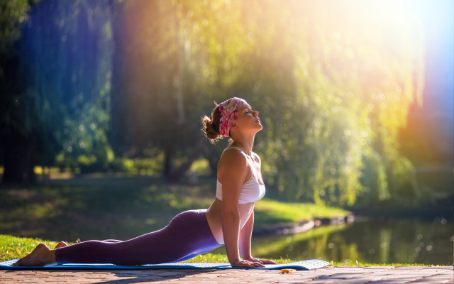 7512x5067 pix. Wallpaper yoga, pose, nature, gym, sport, women