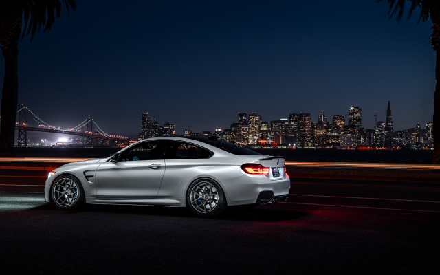 2048x1344 pix. Wallpaper bmw m4 f82 aristo collection, nigth, ligth, bridge, city, bmw m4, bmw, car