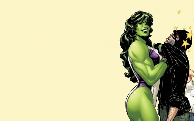 1920x1080 pix. Wallpaper she-hulk, marvel comics, illustration, superhero, art