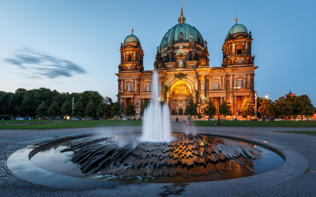 1920x1200 pix. Wallpaper berlin, germany, architecture, castle, fountain, cathedral, dome