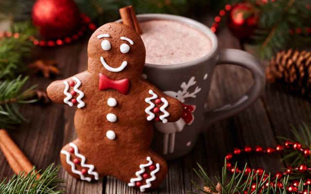 5616x3744 pix. Wallpaper christmas, xmas, decoration, cookies, gingerbread, new year, holidays
