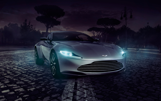 Wallpapers Aston Martin Cars Night Headlights Dark Aston Martin - Aston martin headlights