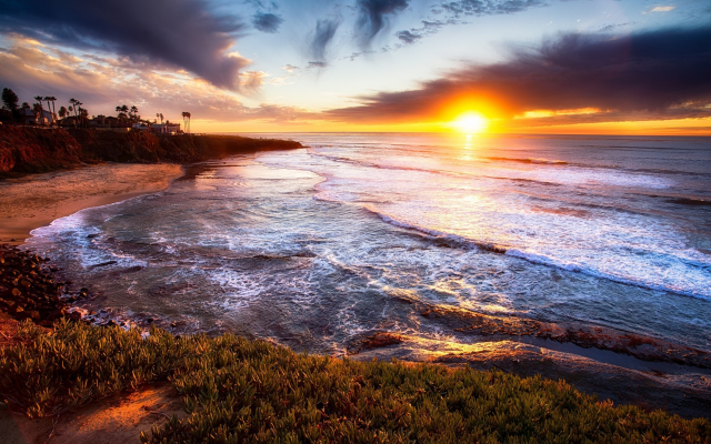 Wallpapers Sunset Cliffs San Diego Sunset Ocean Sky