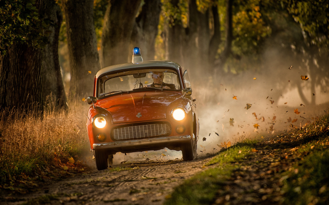 2222x1483 pix. Wallpaper police car, autumn, leaves, leaf, retro cars, speed