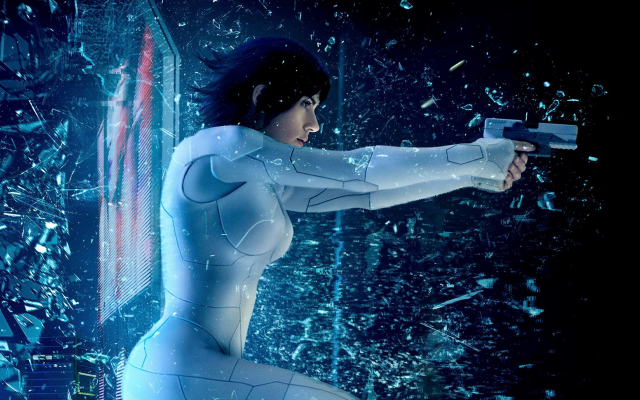 1940x1875 pix. Wallpaper ghost in the shell, gun, movies, scarlett johansson, the major, actress