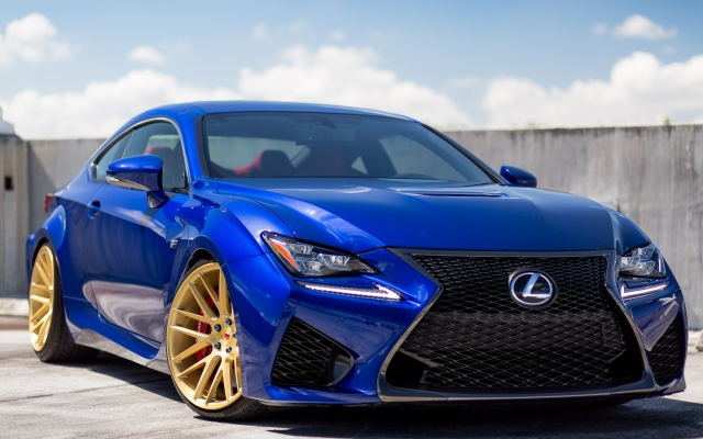 2000x1227 pix. Wallpaper lexus rc-f , golden wheels, vossen wheels type vps 308, lexus, cars, blue car