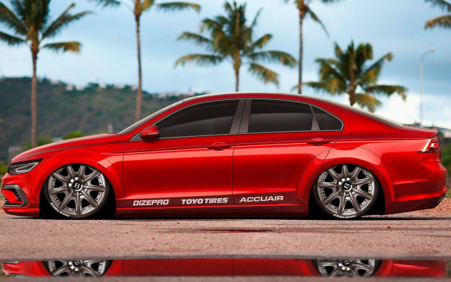 2000x1143 pix. Wallpaper bmw e90 20 rims, bmw e90, bmw, cars, red car, palm, reflection, tuning, bmw 3-series