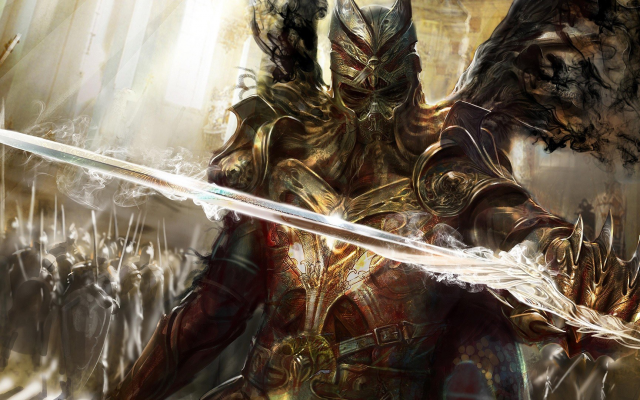 1920x1080 pix. Wallpaper Legend of the Cryptids, video games, concept art, fantasy art, sword, knight, knights, warrior, army