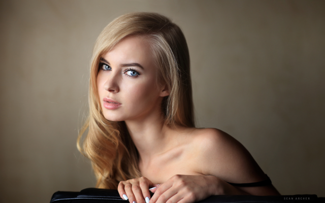 1900x1204 pix. Wallpaper victoria pichkurova, blonde, portrait, blue eyes, models, face