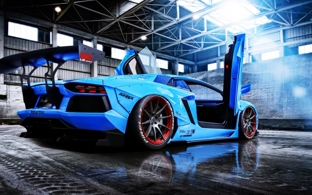 Wallpapers lamborghini aventador, liberty walk, lamborghini