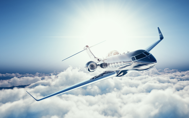 7500x4000 pix. Wallpaper learjet 45, clouds, aircraft, aviation, plane, sky, private jet