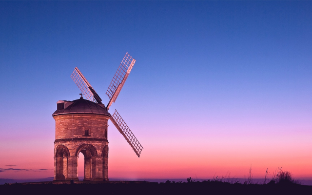 1920x1080 pix. Wallpaper chesterton windmill, windmill, twilight, pink light, chesterton, warwickshire, england