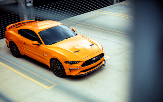 4096x2304 pix. Wallpaper 2018 ford mustang gt, orange car, cars, ford mustang, ford mustang gt, ford