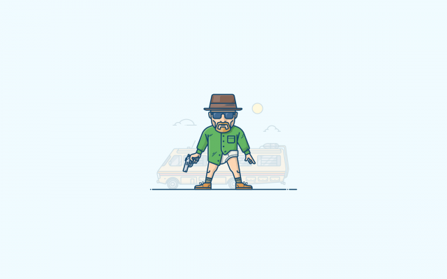 2560x1440 pix. Wallpaper illustration, walter white, heisenberg, breaking bad, simple, minimalism